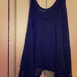 Free People Lace Trimmed Cami L